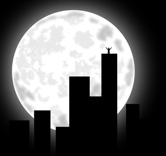 City at Night Clip Art
